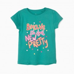 3 GIRLS 'BRAVE IS THE NEW PRETTY' T-SHIRTS, MULTICOLOR