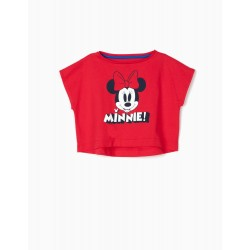 SHORT T-SHIRT FOR GIRL 'MINNIE', RED