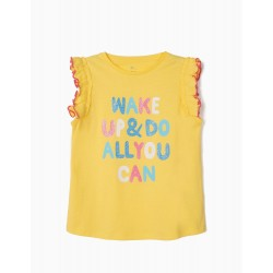 'DO ALL YOU CAN' GIRL T-SHIRT, YELLOW