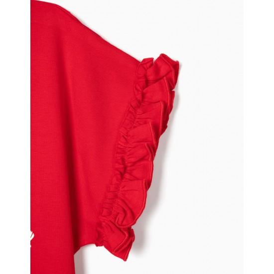 FLOWERS' GIRL T-SHIRT, RED