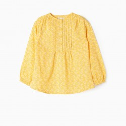 BLOUSE FOR GIRLS 'FLOWERS', YELLOW