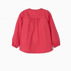 BLOUSE FOR GIRLS 'DOTS', PINK