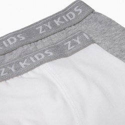 PACK 2 GRAY AND WHITE BOXERS