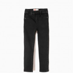 BLACK DENIM JEGGINGS