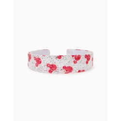 GIRL'S SPARKLY HEADBAND 'MINNIE', WHITE / RED