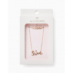 GIRL'S NECKLACE AND BRACELET 'LOVE', GOLD