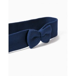 GIRLS HAIR BOW WITH BOW, DARK BLUE