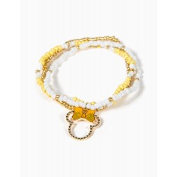 TRIPLE BRACELET FOR GIRLS 'MINNIE', WHITE / YELLOW / GOLD