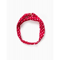 GIRL'S HEADBAND 'MINNIE', RED