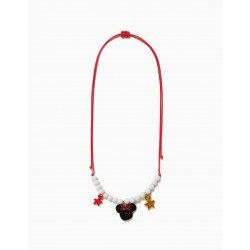 NECKLACE FOR GIRL 'MINNIE', RED AND WHITE