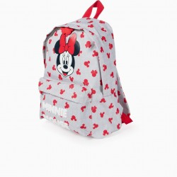 GIRL BACKPACK 'MINNIE', GREY AND RED