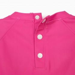 BATH T-SHIRT FOR GIRLS 'ANTI-UV 80', PINK