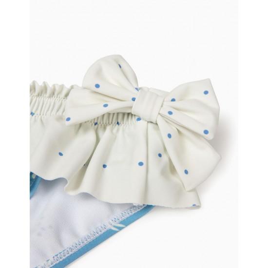 BABY GIRL BATHING BRIEFS 'B&S' ANTI-UV 80 CRABS, BLUE