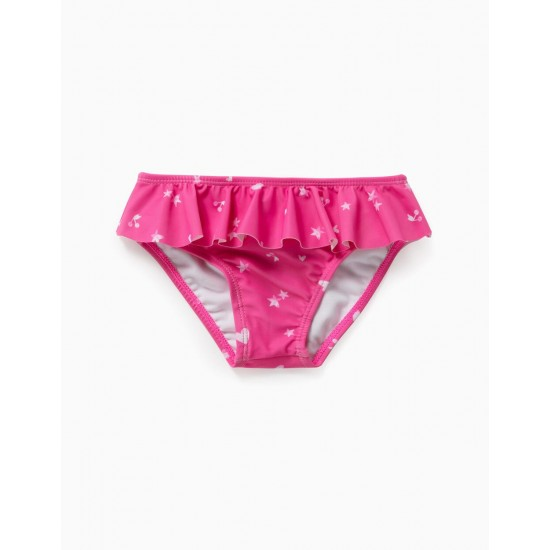 PRINTED BATHING BRIEFS FOR BABY GIRL, PINK