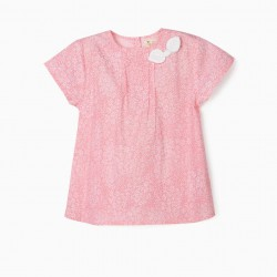 BLOUSE FOR GIRLS 'FLOWERS', PINK