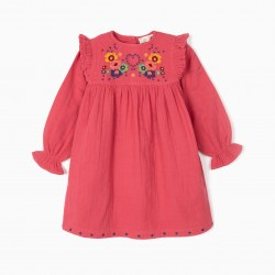 BAMBULA DRESS FOR GIRLS, PINK