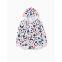 HELLO KITTY GIRL HOODED COAT, WHITE