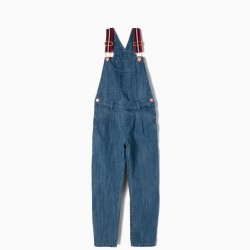BROOKLYN POINT DENIM OVERALLS