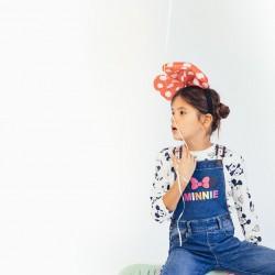 DENIM OVERALLS FOR GIRLS 'MINNIE', BLUE