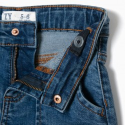 FLARED JEANS FOR GIRLS, BLUE