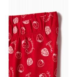 RED STRAWBERRY LEGGINGS