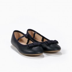 BALLERINAS FOR GIRLS WITH ELASTIC BAND, BLUE