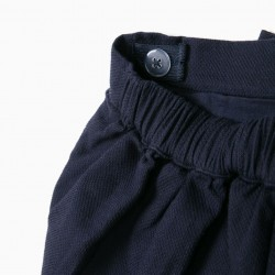 'B&S' GIRLS SHORT WITH BOW, DARK BLUE