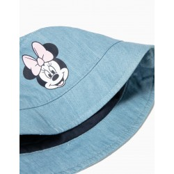 DENIM HAT FOR BABY GIRL 'MINNIE', LIGHT BLUE