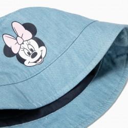 DENIM HAT FOR BABY GIRL 'MINNIE', LIGHT BLUE