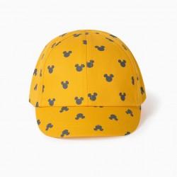 BABY BOY CAP 'MICKEY', YELLOW
