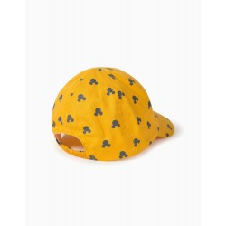 BABY BOY CAP 'MICKEY', YELLOW