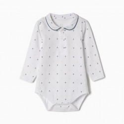 BABY BODYSUIT 'ACORNS', WHITE
