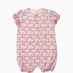 2 BABYGROWS FOR BABY GIRL 'SWEET MINNIE', RED AND WHITE