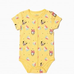'MINNIE & DAISY' BABY GIRL BODYSUIT AND PANTS, YELLOW