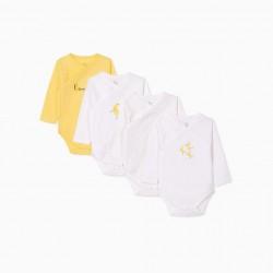 4 BABY BODIES 'BANANA', WHITE/YELLOW
