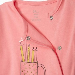 2 BABYGROWS FOR BABY GIRL 'PENCILS', PINK