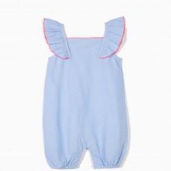 DOTS BABY GIRL BODYSUIT, BLUE