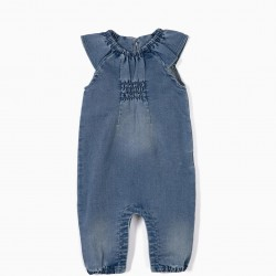 COMFORT DENIM JUMPSUIT, BLUE