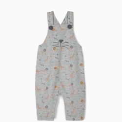 ANIMALS' NEWBORN JUMPSUIT, GRAY