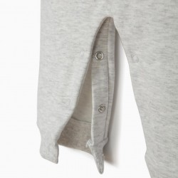 NEWBORN JUMPSUIT 'MICKEY', HEATHER GRAY