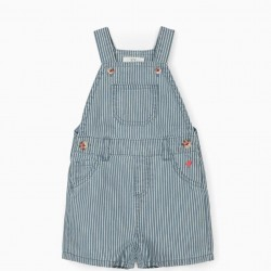 STRIPED JUMPSUIT FOR BABY BOY, BLUE / WHITE