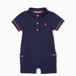 LITTLE SAILOR JUMPSUIT, DARK BLUE