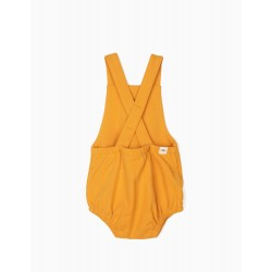 'LION' NEWBORN JUMPSUIT, YELLOW