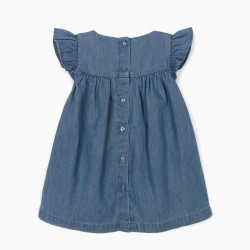 COMFORT DENIM' BABY BLUE DRESS WITH DIAPER COVER, BLUE