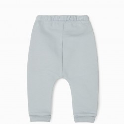 2 NIGHT SKY NEWBORN PANTS, WHITE / BLUE