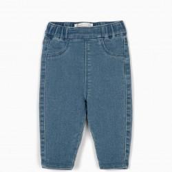COMFORT DENIM NEWBORN PANTS, LIGHT BLUE