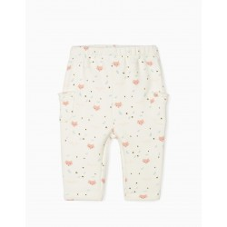 BABY FOX NEWBORN PANTS, WHITE