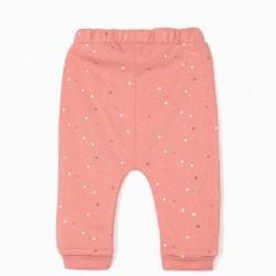 2 PANTS FOR NEWBORN 'STARS', MIXED GRAY / PINK