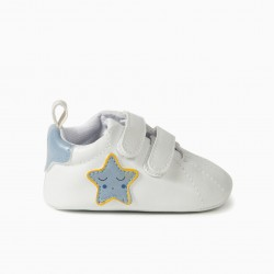 BABY SHOES 'STAR', WHITE