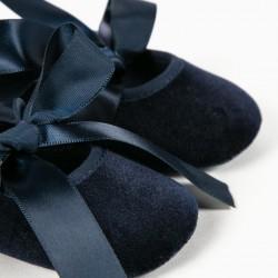BALLERINAS FOR NEWBORNS, DARK BLUE